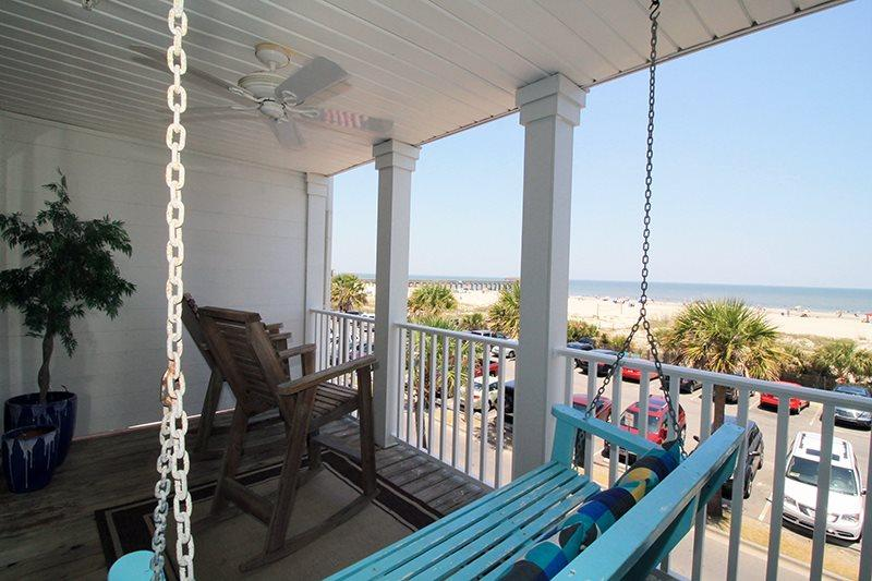 South Beach Ocean Condos - East - Unit 8 - Panoramic Oceanfront Views of Tybee - Image 1 - Tybee Island - rentals