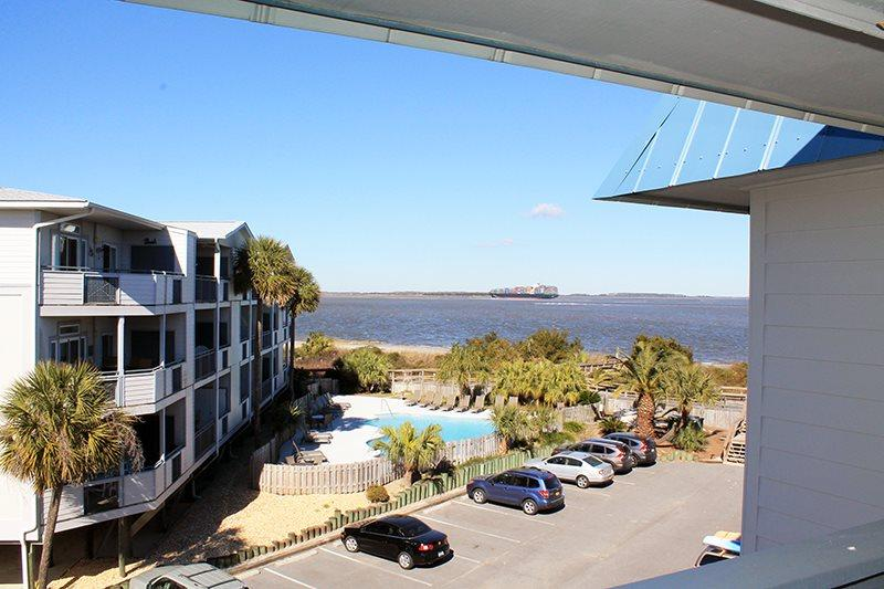 Savannah Beach and Racquet Club - Unit B301 - Water View - Swimming Pool - Image 1 - Tybee Island - rentals