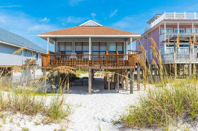Beach Front Cottage,Huge Views,Covered Deck,Pet OK - Image 1 - Gulf Shores - rentals