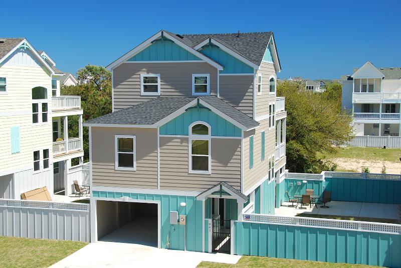 Front Exterior with Garage - Villas at Corolla Bay - Brand New 4 Bedroom! - Corolla - rentals