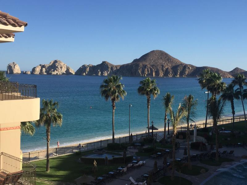 View From Balcony - 2 BR 3 Bath Oceanfront Villa 4th Floor Amazing Views! 100% Renovated 2016 - Cabo San Lucas - rentals