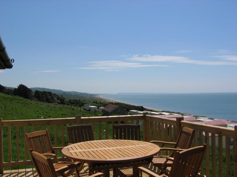 A stunning view from your private balcony. Over looking all Lyme bay and our private beach - Cogden Cottages - Brigantine - Burton Bradstock - rentals