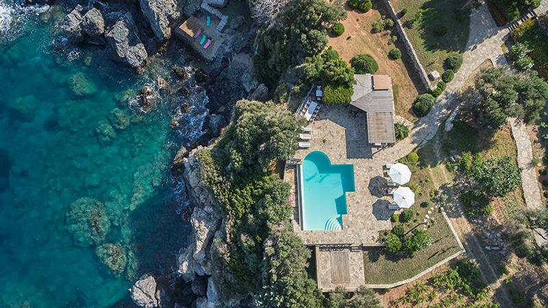 Gv - Samos Seafront Estate Villa III with stunning seaviews, on the seafront, a large pool and garde - Image 1 - Sámos - rentals