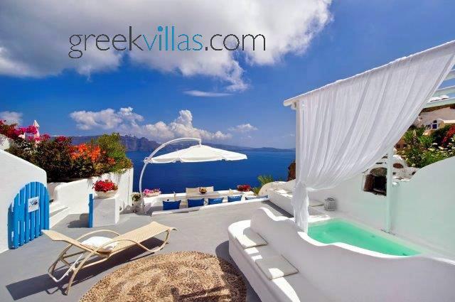 Greek Villas Santorini - Dream Blue Villa with outdoors jacuzzi - Image 1 - Santorini - rentals