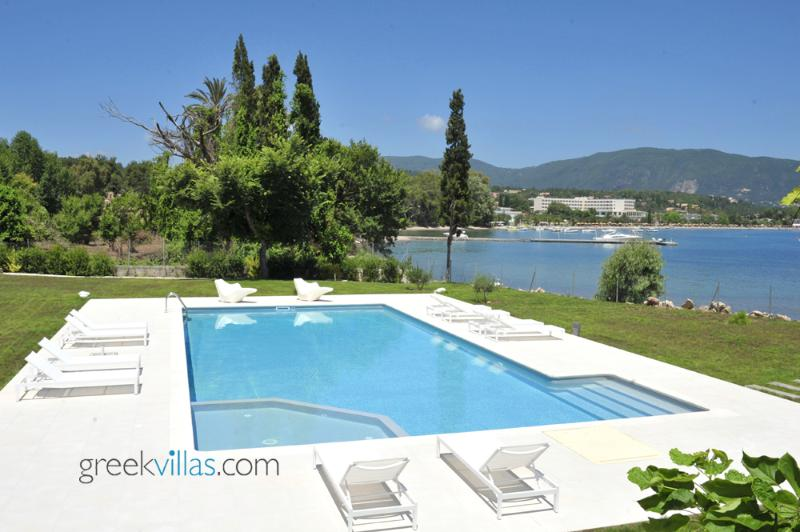 Greek Villas Corfu - the Wave Beach Villa  amazing seafront villa sharing pool sleeps 6+ - Image 1 - Corfu - rentals