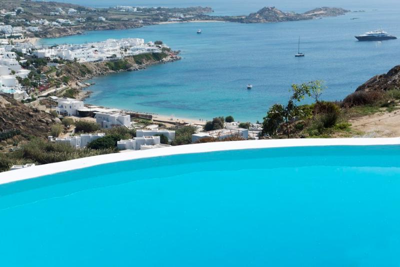 Mykonos Villa Azzura  private pool sleeps 6 with  stunning seaviews near to - Image 1 - Mykonos - rentals