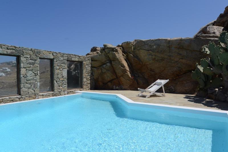 Mykonos - Villa La Paloma  -  shares a pool and has stunning views sleeps 6+ - Image 1 - Mykonos - rentals