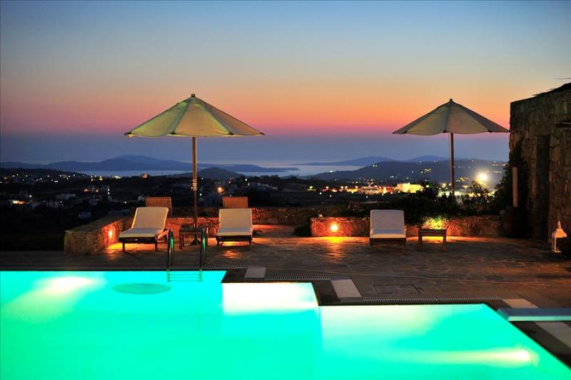 Mykonos Sunset Private Estate with stunning sunsets and seaviews and  7 B/R - Image 1 - Mykonos - rentals