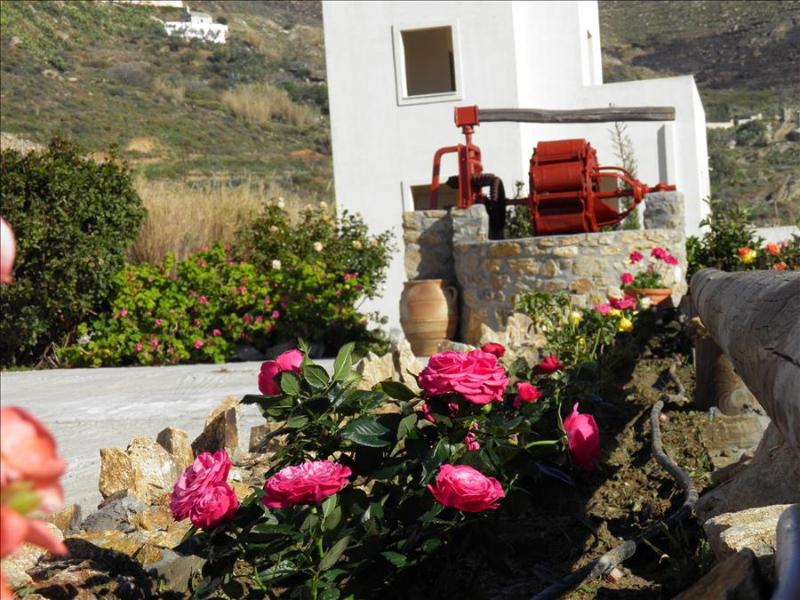 Naxos Villa of Roses with wonderful views to sea and hillside 3 B/R in private garden - Image 1 - Naxos - rentals