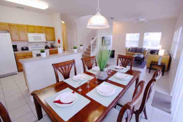Dining Area for Six (6) - 8549 Encantada - Kissimmee - rentals