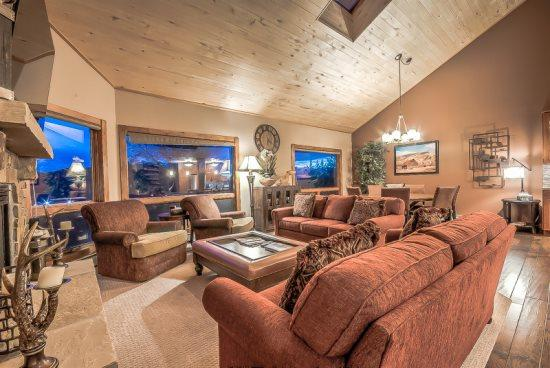 Top Level Kitchen, Dining and Living Area, Amazing Views, Vaulted Ceilings, Stone Fireplace, Stainless Steel Appliances, Granite Countertops,   - Churchill Lodge Grande - Steamboat Springs - rentals