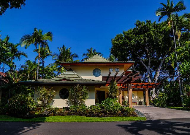 House Front - Alii Point - Luxury Villa in Private Oceanfront Community - Kailua-Kona - rentals