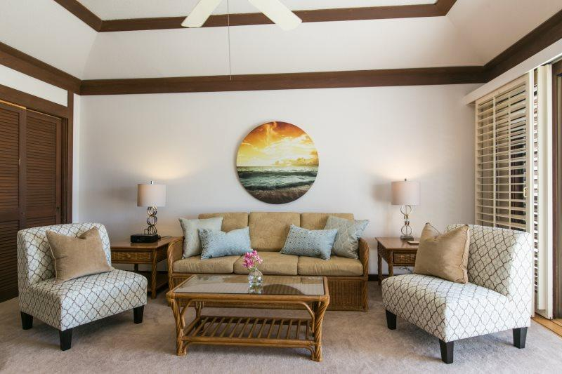 Living Room - Kiahuna 108-Exceptional one bedroom at Kiahuna Plantation. Free mid-size car. - Koloa - rentals