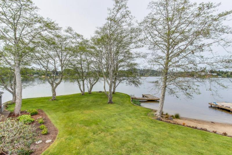 Modern lakefront home w/private dock, firepit, amazing views - Image 1 - Otis - rentals