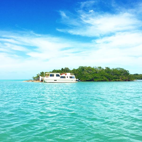 Quiet Cove Key with docked houseboat. Rent it with or without the 4 bedroom home on shore. - 4 BR shore home w pool AND Private Island and Boat - Marathon - rentals