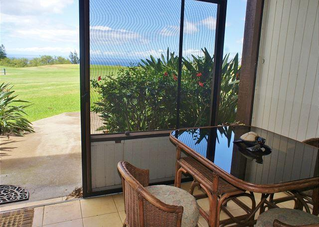 Ocean Views from Dining Table in Screened in Lanai - A place of tranquility, peace and romance.-WVC E10 - Waikoloa - rentals