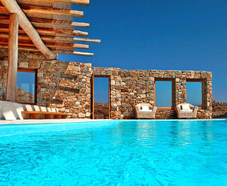 Mykonos -  Gv - The Sunkissed Villa with infinity pool and 5 bedrooms - Image 1 - Mykonos - rentals