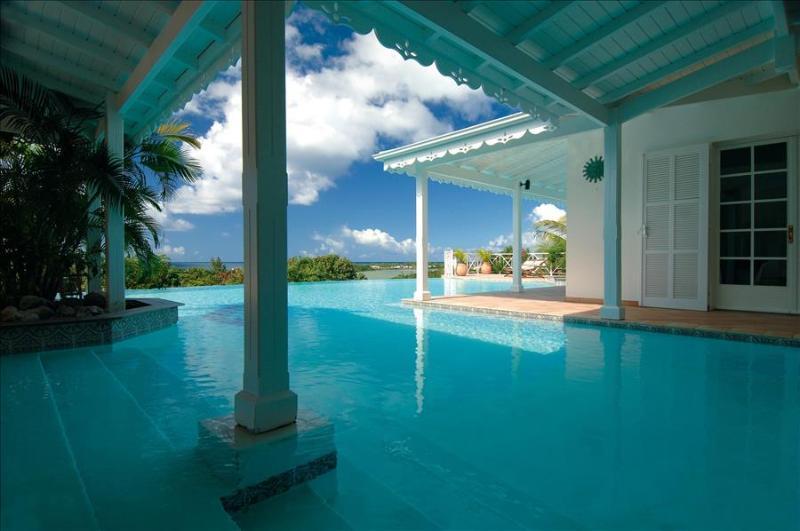 5+2 bedroom villa overlooking the caribean sea and sunset - Image 1 - Plum Bay - rentals