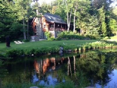 Most perfect Vermont home in the mountains with private pond and hot tub. - Elegant, cozy log home nestled in Stowe - Stowe - rentals