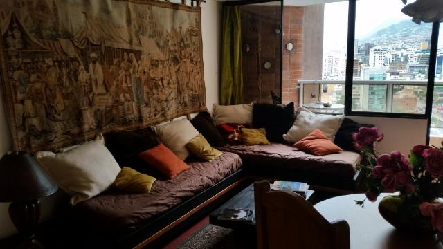 Living room opening on a balcony - French  Suite Cordero  in la Mariscal Quito - Quito - rentals