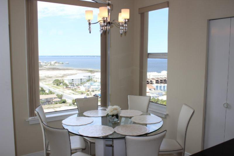 Dining Area with view of Gulf of Mexico - Beach Colony West 15F - Navarre Beach - rentals