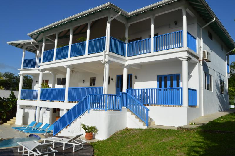 VILLA FROM POOL SIDE - Ridge House  6 bedroom Villa overlooking sea - Tobago - rentals