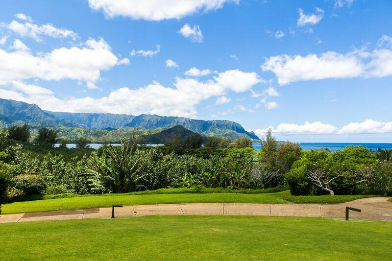 The view from the lanai - Unobstructed Hanalei Bay Ocean View studio - Princeville - rentals