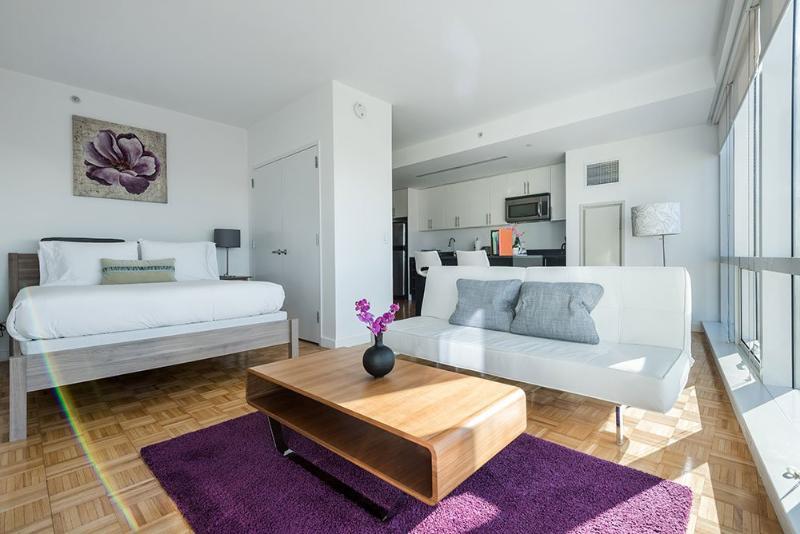 Wonderful Modern Furnishings - Bright Studio Apartment in Jersey City - Image 1 - Jersey City - rentals