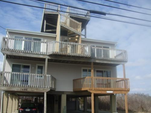 Outside View of House - Beatiful Beach front Condo - Sea Isle City - rentals