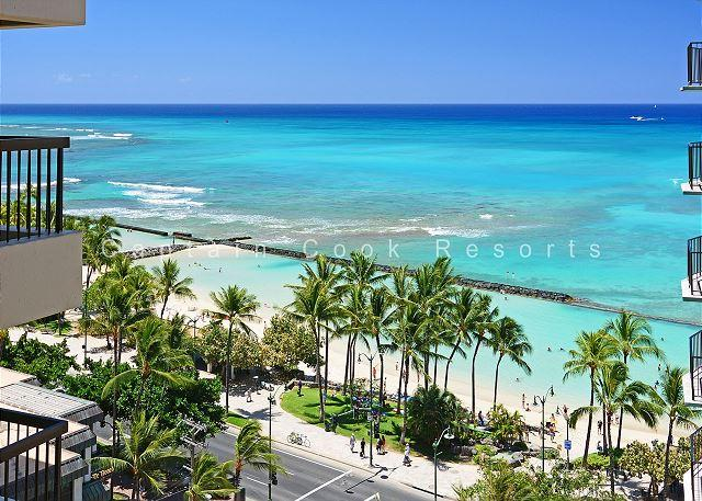 Waikiki Ocean View 2/2 Condo with A/C, WIFI, pool, parking, sleeps 6! - Image 1 - Waikiki - rentals