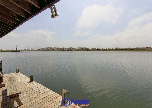 Lake Padre view from back deck/dock area - Affordable option that's close to the beach and on the water! - Corpus Christi - rentals