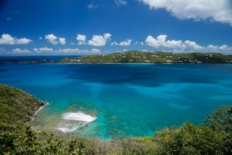 Amazing view of the coral reef from the porch - Sugar Bird Cove - Beachfront/Magens Bay view villa - Saint Thomas - rentals