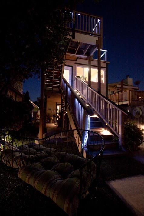 Stairs to 3rd story deck - Mission Bay Park Condo - San Diego - rentals