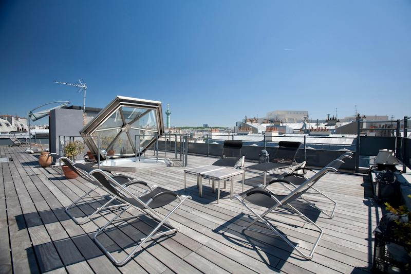 Marais Penthouse - Unique Rooftop terrace and View - Image 1 - Paris - rentals