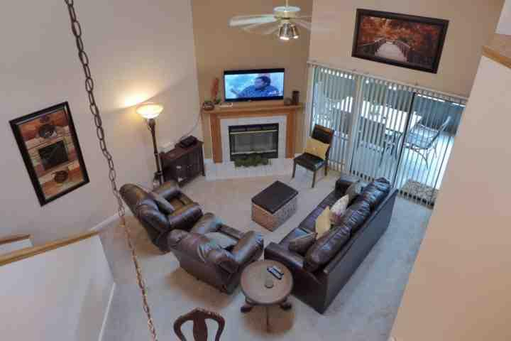 Living Room with Leather Sofa/Bed, and Two Leather Recliners. - Totally Updated 4 King's Condo at Pointe Royale. ALL NEW EVERYTHING! New Beds - Branson - rentals