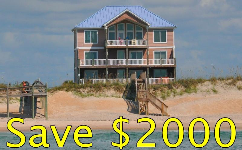 Save $2000 in June and July! 1000 in May! - Island Drive 100 Oceanfront! | Private Heated Pool, Hot Tub, Elevator, Game Equipment, Fireplace - North Topsail Beach - rentals