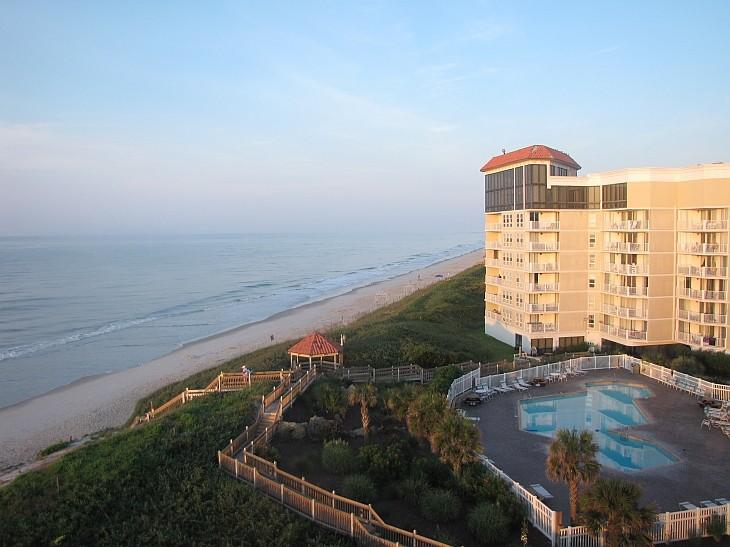 From the balcony at sunrise - No fees! St. Regis SS Minnow 3BR/2BA Oceanfront - North Topsail Beach - rentals