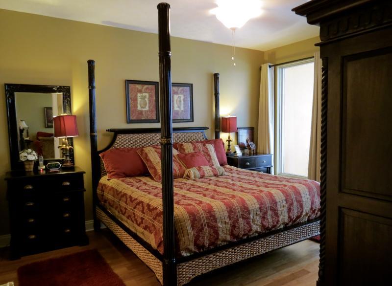 Master Bedroom with king memory foam mattress and beautiful Gulf view! - Treasure Island, 2 King BR's,2 baths,Beach chairs! - Panama City Beach - rentals