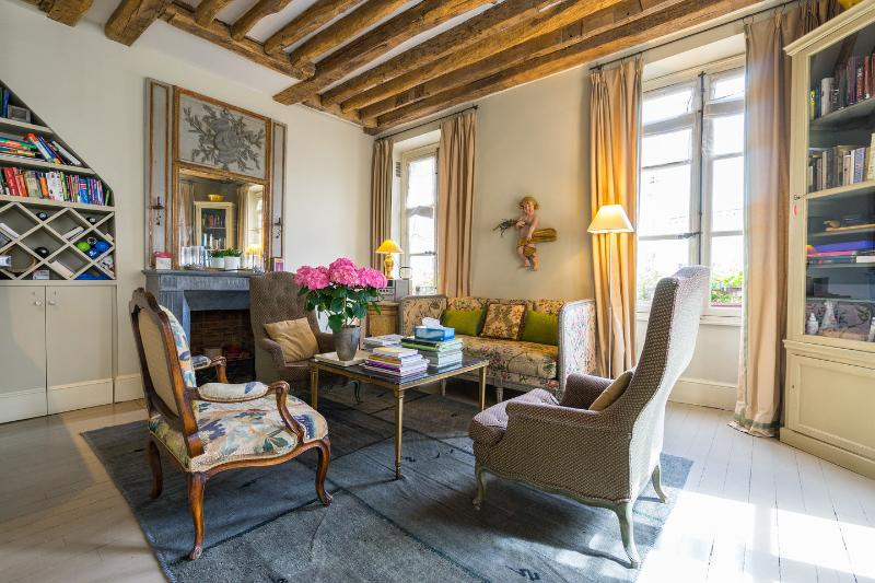 Living room - Elegance in the Latin Quarter-2 Bedrooms/2 Baths - Paris - rentals