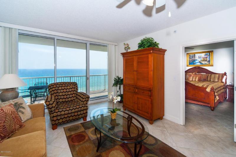 living room and master bedroom - Majestic Beach Resort- Oceanfront,Great Amenities - Panama City Beach - rentals
