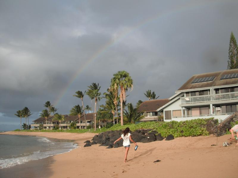 Rainbow over our beach - West Maui Oceanfront 3 Bed/3 Bath Kahana Outrigger - Lahaina - rentals