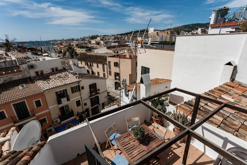 Terrace - amazing apartment with sea view terrace - Palma de Mallorca - rentals