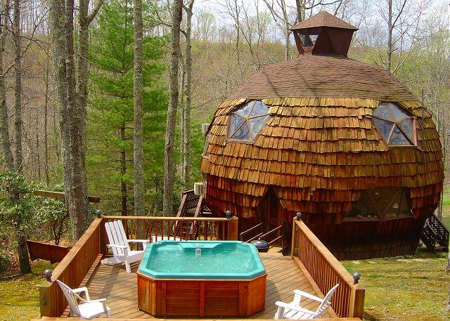 Geodesic Dome On 40 Acres With Bubbling Hot Tub & WiFi - Lower Summer Rates! - Image 1 - Grassy Creek - rentals