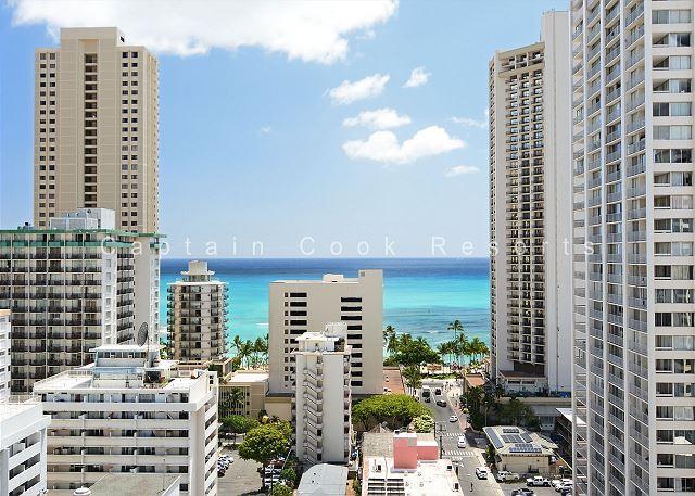 Ocean View, 5 min. walk to beach, central A/C!  Sleeps 3. - Image 1 - Waikiki - rentals