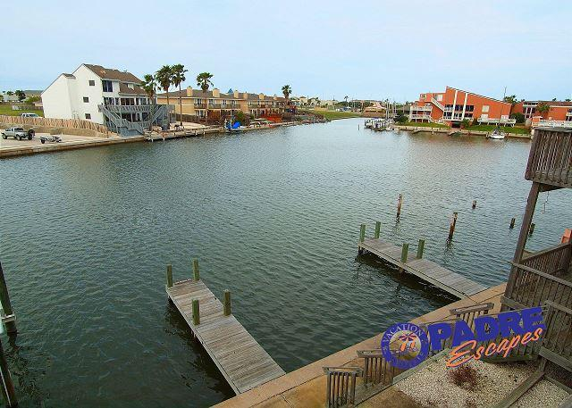 View of boat slips from upstairs balcony  - On the Water, sleeps 9 and close to Schlitterbahn entrance! - Corpus Christi - rentals