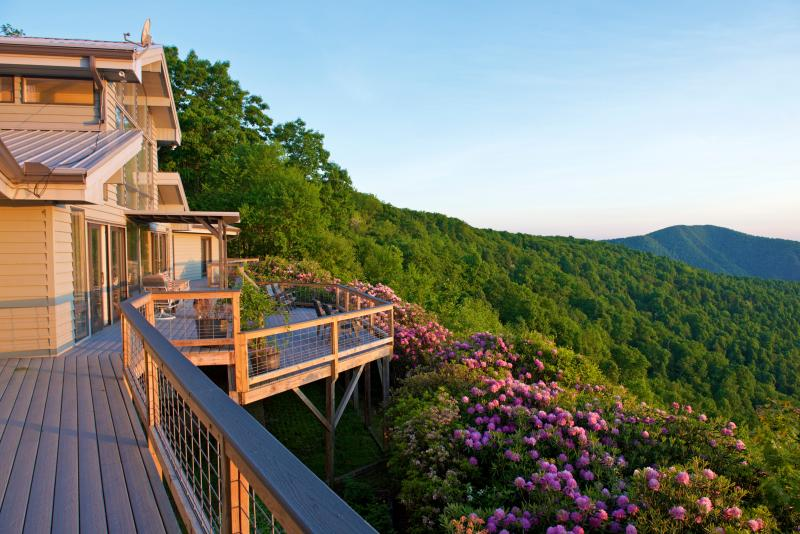 View outside Master Suite. - Long Range Views In SW VA  off Blue Ridge Parkway - Meadows of Dan - rentals