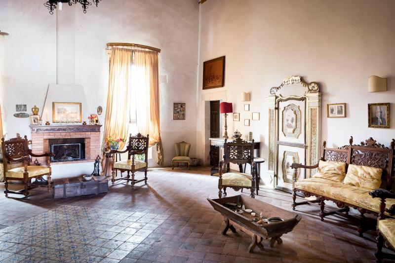 the large living room - Historical villa in the Sicilian countryside! - Syracuse - rentals