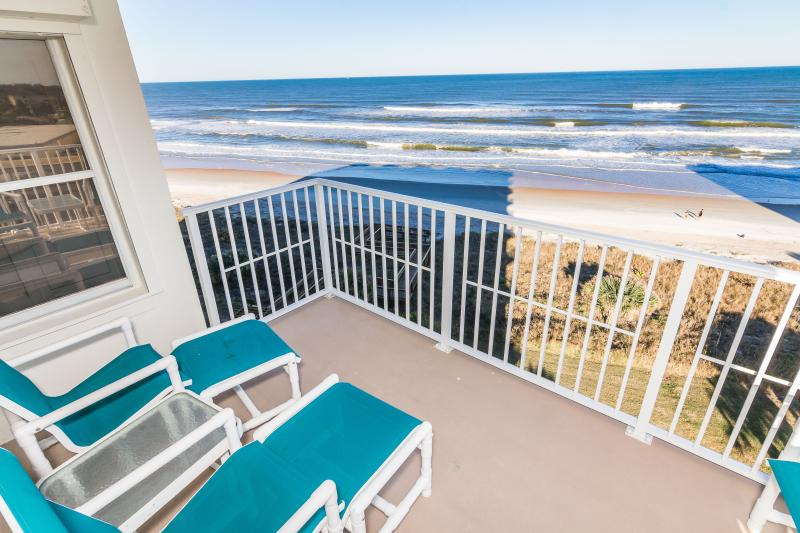 Beach is steps away! - Luxury Oceanfront, Keyless Entry, Gated Parking - Ormond Beach - rentals