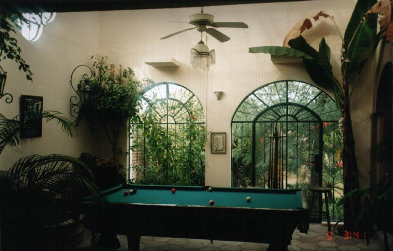 Solarium with Trees/Plants, and 100 year old Oak Pool Table - Central, Spacious, and Gorgeous--Countless Extras - San Miguel de Allende - rentals