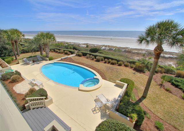Look no further, this is your Ocean Front Paradise! - South Beach Lagoon 7, 5 Bedrooms, Ocean Front, Private Pool, Sleeps 12 - Hilton Head - rentals